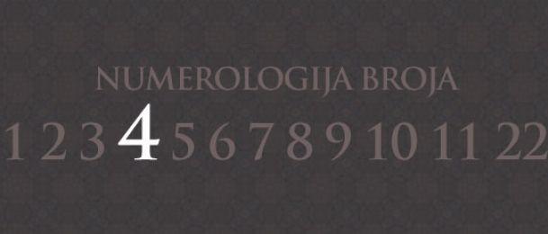 Numerologie für Zahl 4